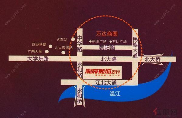 瀚林新城区域图