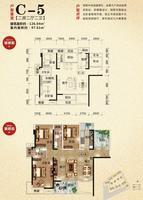 荣和山水绿城4期C-5户型2室2厅2卫126.04�O