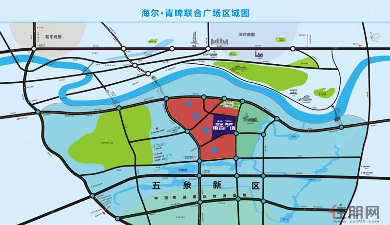 海尔青啤联合广场区域图