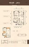 瑞和家园B2户型2室2厅1卫87.82�O