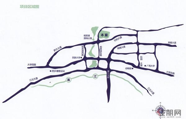 中海御湖熙岸区域图