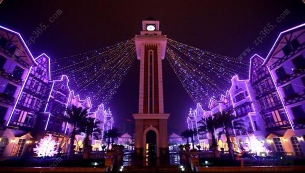 东兴国际旅游集散中心夜景图