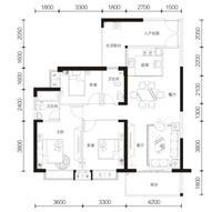 荣顾购物公园翡翠园3/5#户型43室2厅2卫114.00�O