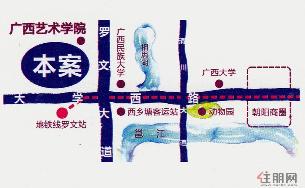 骋望麓涛townhouse 交通图