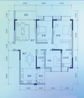 彰泰新城彰泰新城2#A1三房148平方米3室2厅2卫148.00�O