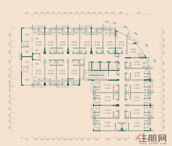 桂海星座3#尚寓总平图0室0厅0卫0.00�O
