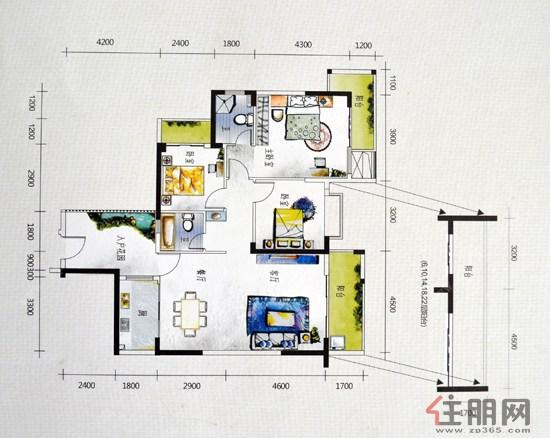 恒祥亲水湾3#01/073室2厅2卫119.63�O
