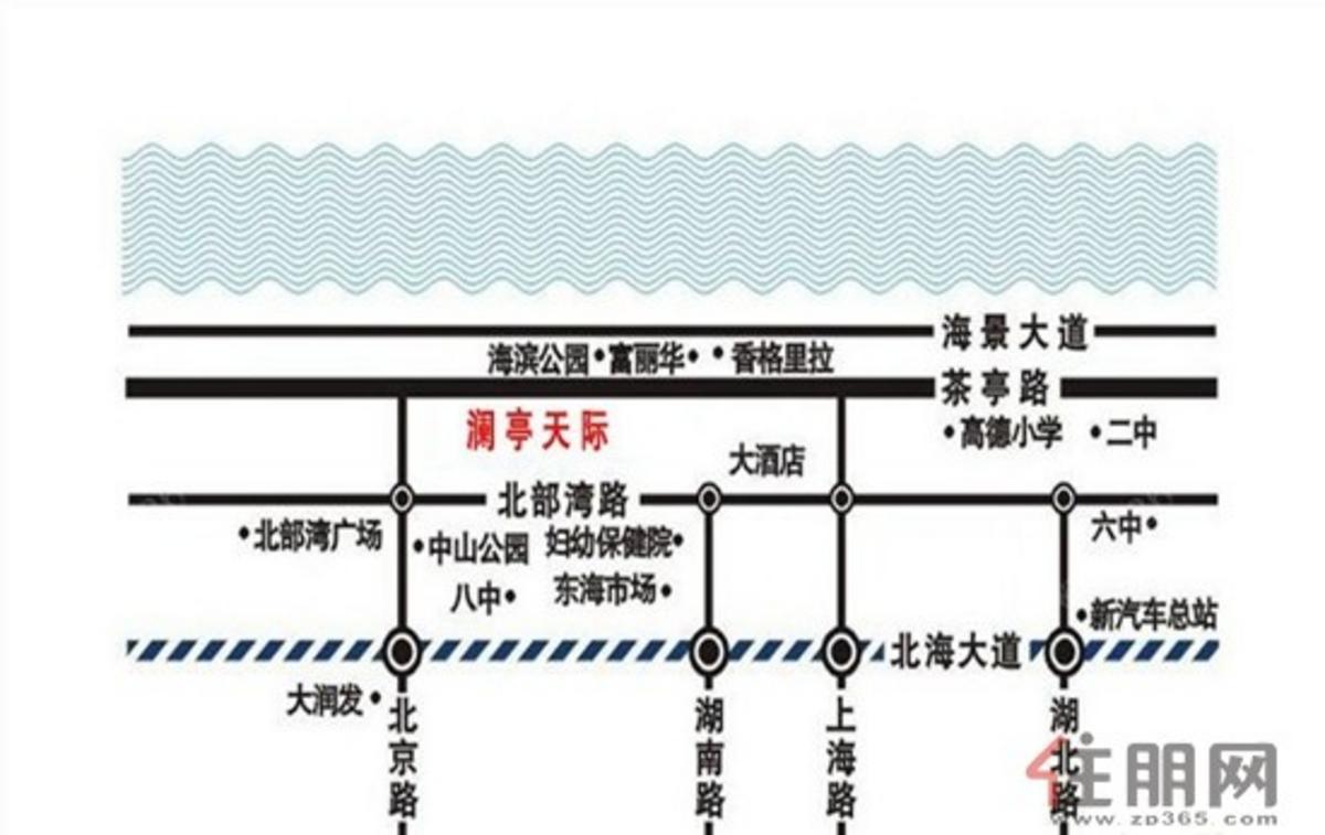 澜亭天际 交通图