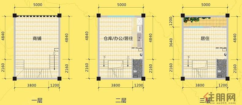 田阳古鼎香农批市场A户型0室0厅0卫105.00―105�O