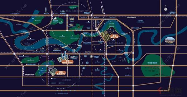 品牌展示中心区域图