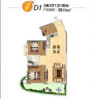 橙果组团产品D1户型图
