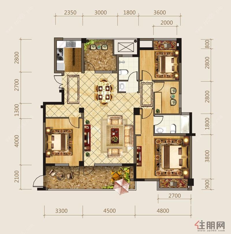 海华东盟公馆B14室2厅2卫155.00―158�O