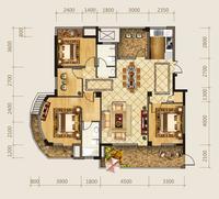 海华东盟公馆A1户型4室2厅2卫160.00�O