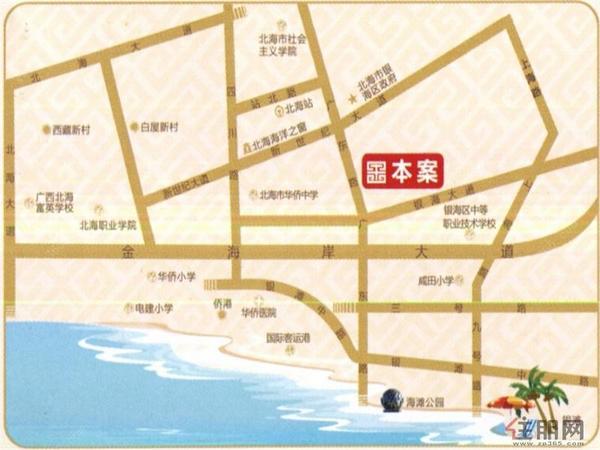 圣景龙湾 交通图