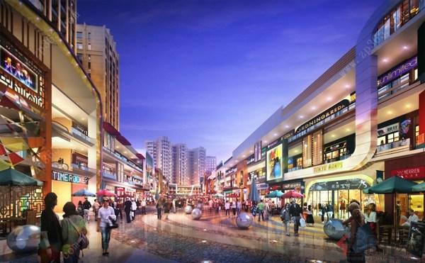 桂林万达金街效果图