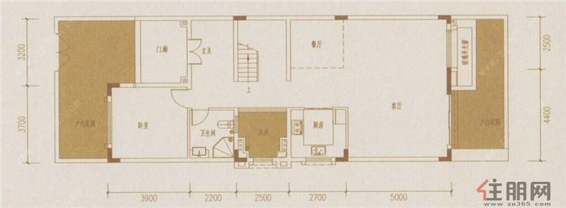 a型联排别墅首层平面图