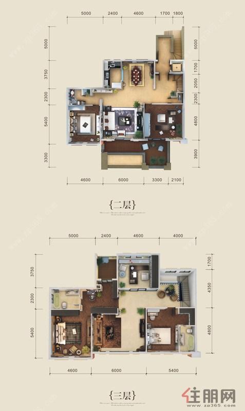中房翡翠湾英伦别墅B1户型5室3厅3卫322.64―323.33�O