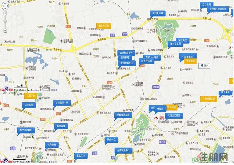时代茗城・财富中心区域图
