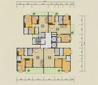 5#楼二至十六层平面图