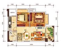 万达公寓71.41㎡两房