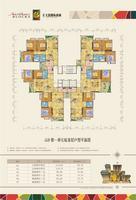 4#楼一单元标准层户型平面图