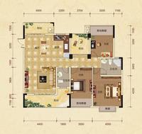 中房翡翠园赤瑛轩C10-B户型3室2厅2卫142.76�O
