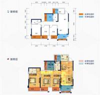 云星华府2#楼1单元05户型4室2厅2卫105.89�O
