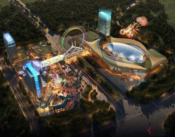 南宁国际商业贸易中心整体鸟瞰