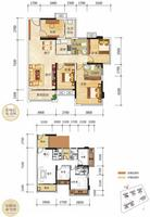 奥园上筑2栋01户型4室2厅2卫99.95�O