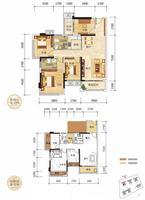 奥园上筑2栋02户型3室2厅2卫99.89�O
