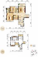 奥园上筑2栋03户型3室2厅2卫94.62�O