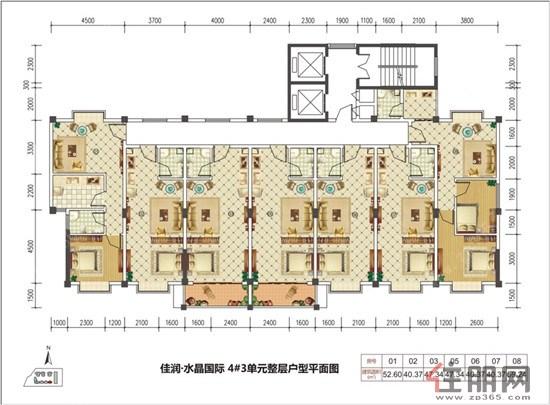 佳润国际水晶4号公寓楼平面图