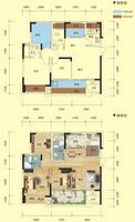 中房新天地1#1单元01/2单元02户型3室2厅2卫89.12�O