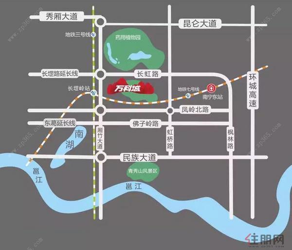 萬科城交通圖