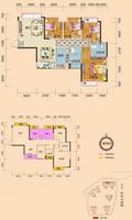 时代家园6#楼05户型4室2厅2卫91.63�O