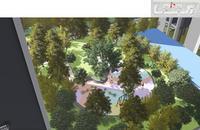 大唐世家效果图|地块一园林俯瞰图