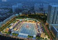 中心购物广场效果图|中心购物广场 鸟瞰图