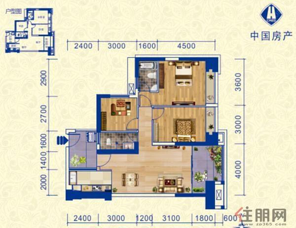 中房柳铁新城B-23室2厅2卫114.00�O