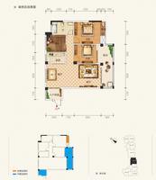 东方城市花园1单元201-1801号房3室2厅1卫105.21�O