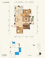 东方城市花园1单元202-1802号房3室2厅1卫91.66�O