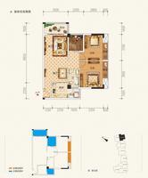 东方城市花园2单元202-1802号房3室2厅1卫87.46�O
