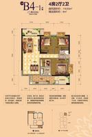 江宇世纪城13#楼二单元06号B4-1户型4室2厅2卫118.93�O