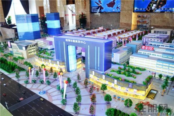 桂海东盟商贸中心沙盘图