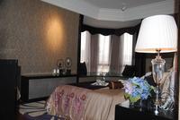 汉军・五象一号样板间图|卧室飘窗设计有格调