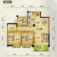 天翼九龙印象A1户型2室2厅1卫89.99�O