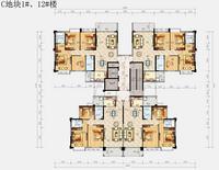 锦绣丽园C地块1#、12#楼A户型0室2厅2卫125.52�O