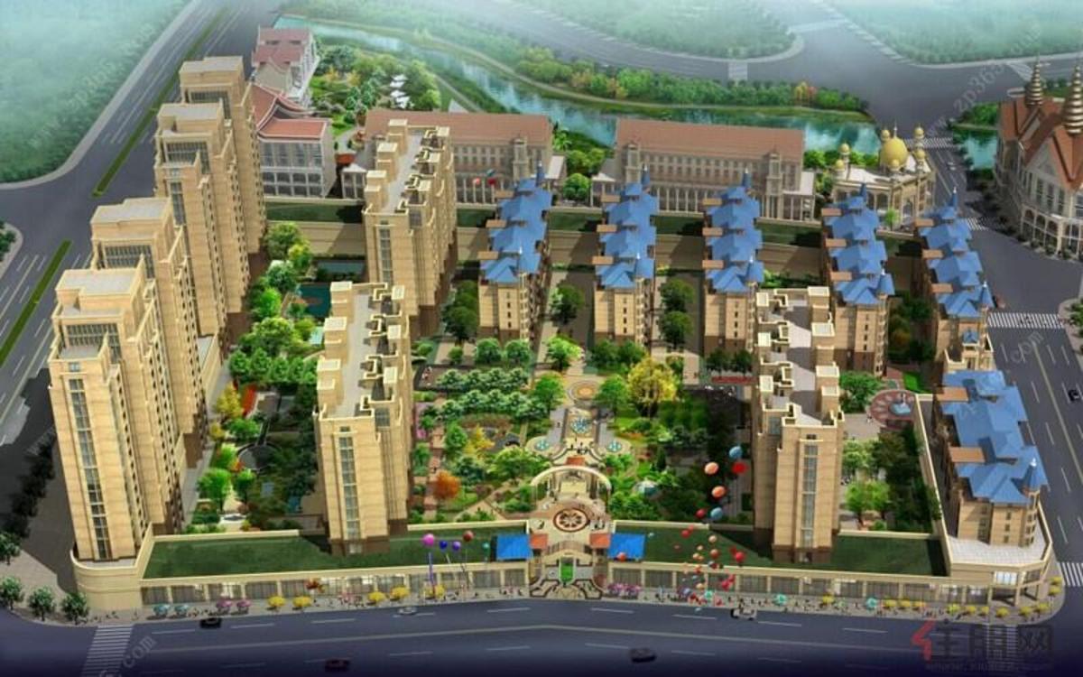 龙湖新城效果图