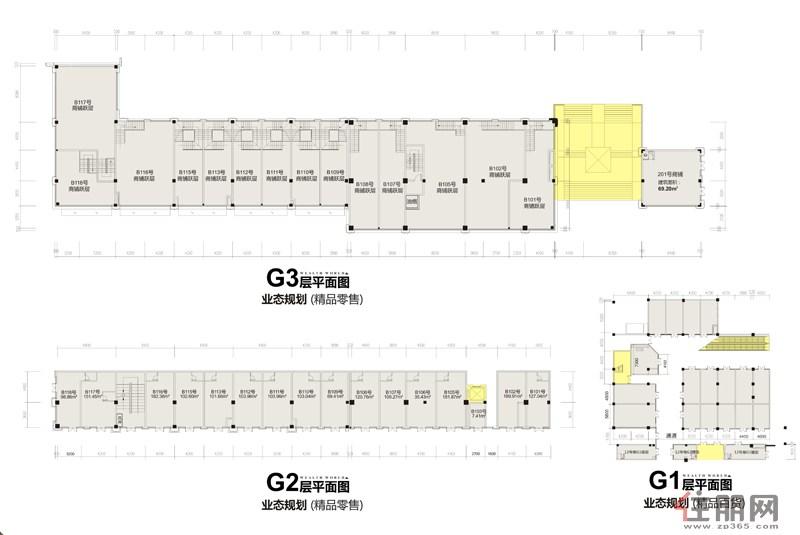 16#楼商铺平面图