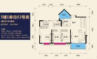 公园天下5#1单元02号房3室2厅2卫124.35�O