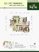 温馨竹园1B户型4室2厅2卫113.00�O